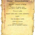Pizza Scuola Menù